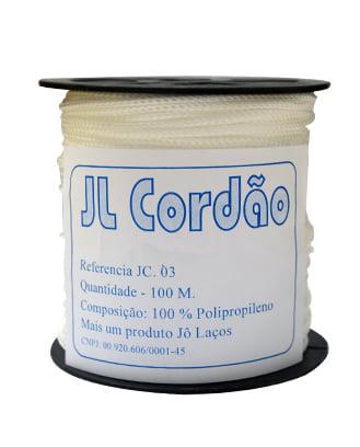 CORDÃO DE POLIPROPILENO JC3 3MM - C/ 100 METROS