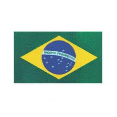 ETIQUETA BORDADA BRASIL - 48MM x 88MM - C/ 10 UNIDADES