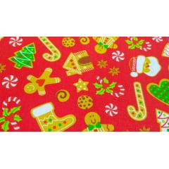 Kit Tecidos Tricoline de Natal - 10 Estampas C/ 1,5m X 0,3m